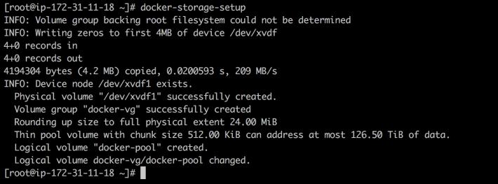 docker-storage-setup
